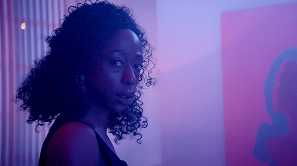 Screenshot from Vert (UK, 2019). Dir. Kate Cox. With Nikki Amuka-Bird and Nick Frost.