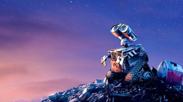 Wall-E: A heartwarming story about a robot who develops human-like feelings and tries to clean up the planet that humans have destroyed