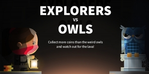 Explorers vs Owls video game title screen