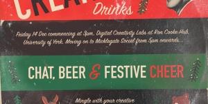 Creative Christmas drinks invitation