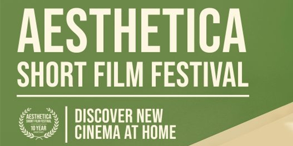 White text reading 'Aesthetica Film Festival ' and logo against a green background