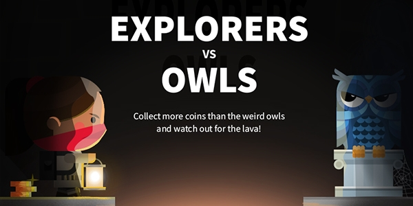 Explorers vs Owls video game title screen