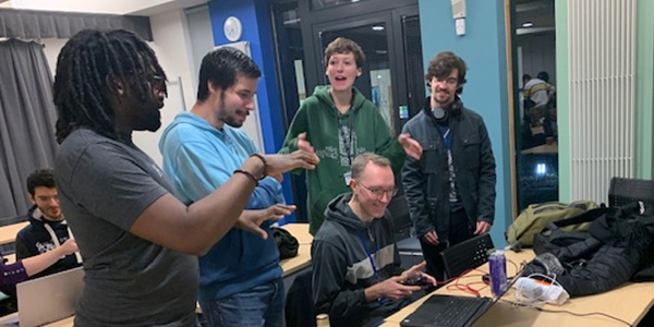 Attendees at Global Game Jam 2020