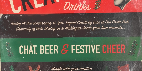 Creative Christmas drinks invitation